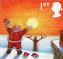 100 x  1st Class (76p) Self-adhesive Christmas Stamp (mixed designs) worth £76